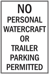 "12""w x 18""h Aluminum Sign ""No Personal Watercraft��_"""
