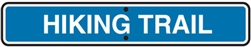 "24""w x 6""h .080 Reflective Aluminum Sign ""Hiking Trail"""