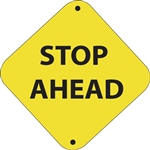 "12""w x 12""h Aluminum Trail Marker Sign ""Stop Ahead"""