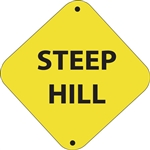 "12""w x 12""h Aluminum Trail Marker Sign ""Steep Hill"""