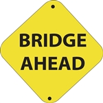 "12""w x 12""h Aluminum Trail Marker Sign ""Bridge Ahead"""