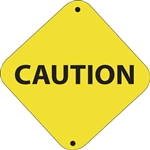 "12""w x 12""h Aluminum Trail Marker Sign ""Caution"""