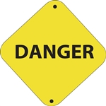 "12""w x 12""h Aluminum Trail Marker Sign ""Danger"""