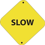 "12""w x 12""h Aluminum Trail Marker Sign ""Slow"""