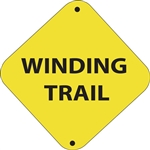 "12""w x 12""h Aluminum Trail Marker Sign ""Winding Trail"""