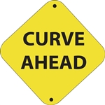 "12""w x 12""h Aluminum Trail Marker Sign ""Curve Ahead"""