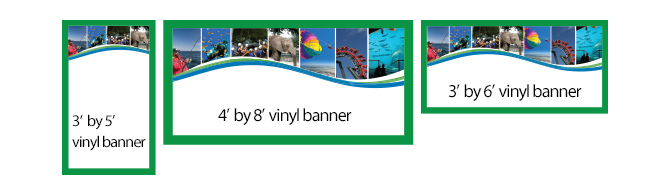 Banners - Vinyl banners sizes