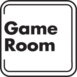 "12""w x 12""h Aluminum Sign ""Game Room"""